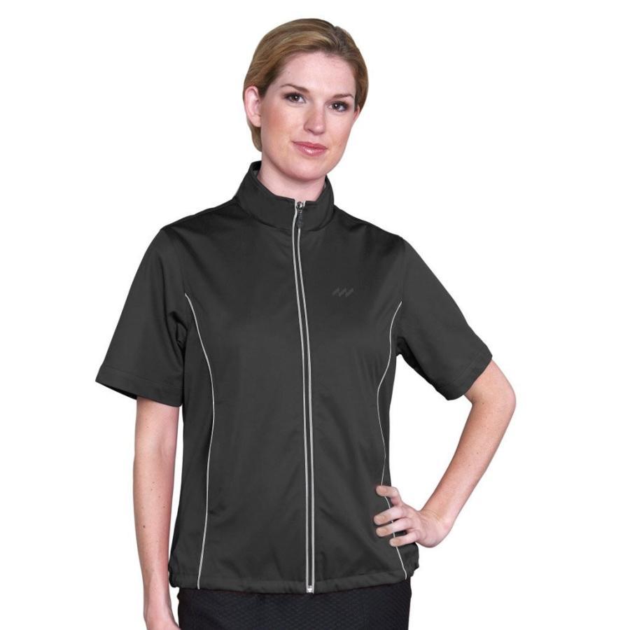 Monterey Club Ladies Half Sleeveマイクロファイバードビー撥水Windshirt # 2763