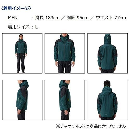 ダイワ(Daiwa) フィッシングジャケット レインウェア ゴアテックス プロダクト レインジャケット DR-1507J ブラック