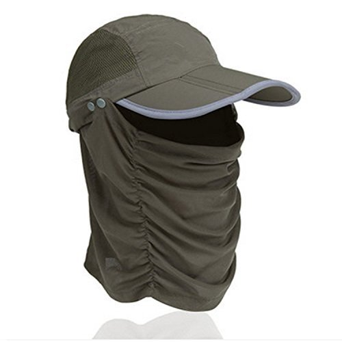 CellCaseバイザー太陽キャップ帽子Reflectiveキャップ折りたたみ式取り外し可能速乾性anti-mosquitoマスク帽子with He
