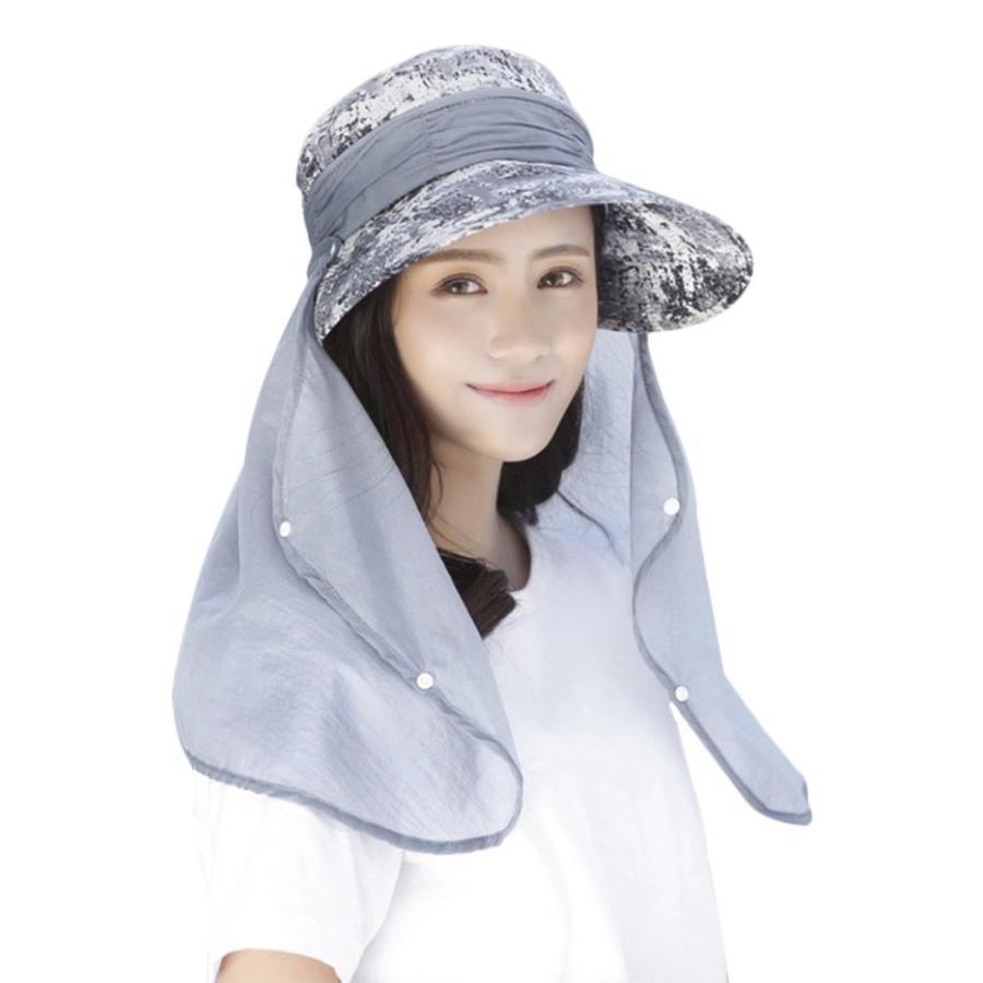 釣り帽子、サンハットレディースLady Wide Brim SunキャップバイザーハットUV保護夏Fisherman帽子Sunhats取り外し可能ネ
