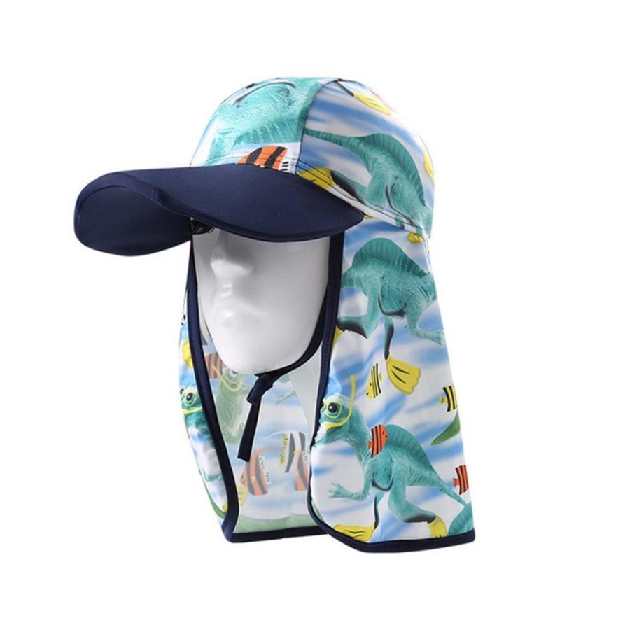 tanqiang子供調整可能UPF 50+ UV保護アウトドアビーチSun Hat with Flapネックカバー