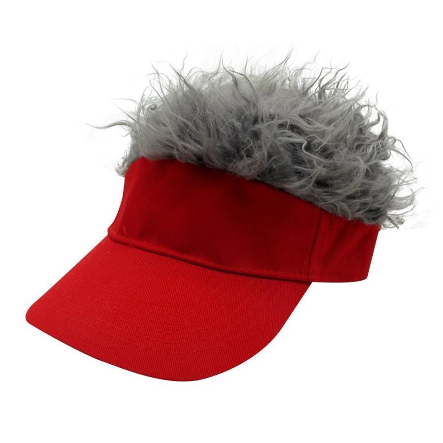 oberoraノベルティ太陽バイザーキャップウィッグPeaked調整可能野球帽子with Spikedヘア