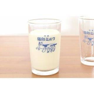 猫印ミルク 再再販 国内正規総代理店アイテム 星羊社 グラス
