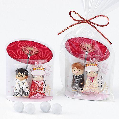 プチギフト お菓子 結婚式 ウェディング ブライダル「チョコっと愛あい傘(チョコ)」 CS1320-1098 hanakobo-wedding