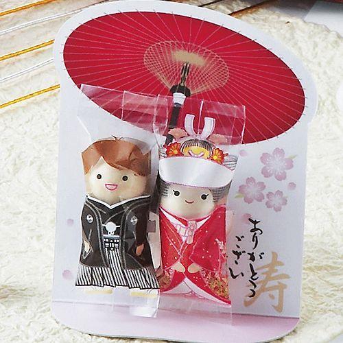 プチギフト お菓子 結婚式 ウェディング ブライダル「チョコっと愛あい傘(チョコ)」 CS1320-1098 hanakobo-wedding 02