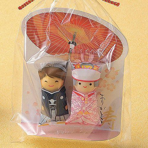 プチギフト お菓子 結婚式 ウェディング ブライダル「チョコっと愛あい傘(チョコ)」 CS1320-1098 hanakobo-wedding 03