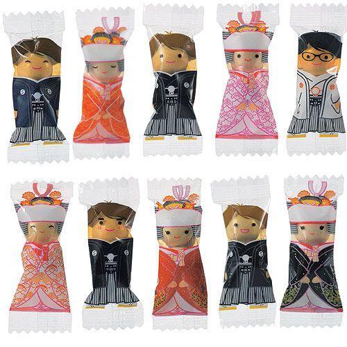 プチギフト お菓子 結婚式 ウェディング ブライダル「チョコっと愛あい傘(チョコ)」 CS1320-1098 hanakobo-wedding 05