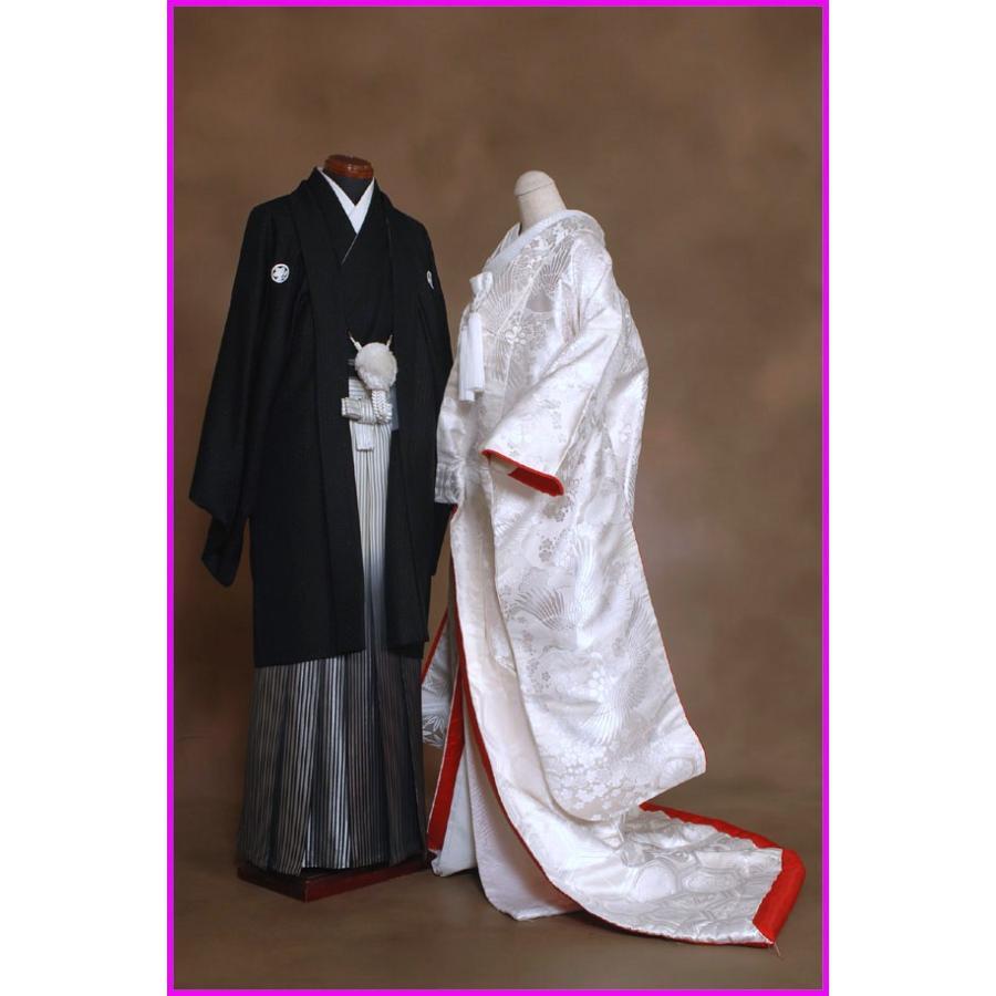 京都最高級西陣織 白無垢レンタル紋付レンタルフルセット687 鶴 裏地赤色