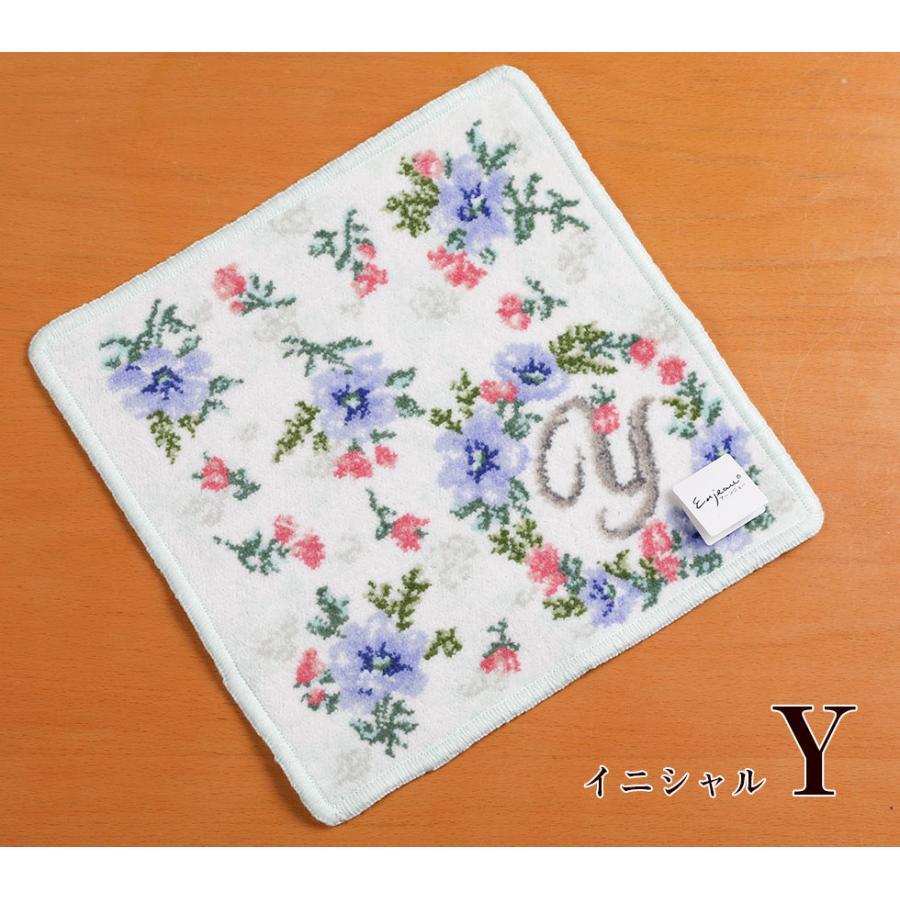 母の日 2021 ギフト プレゼント ハンカチ&ソープフラワー flower アーンジョーシリーズで人気のイニシャル 8種類から選べます hanamankai 12