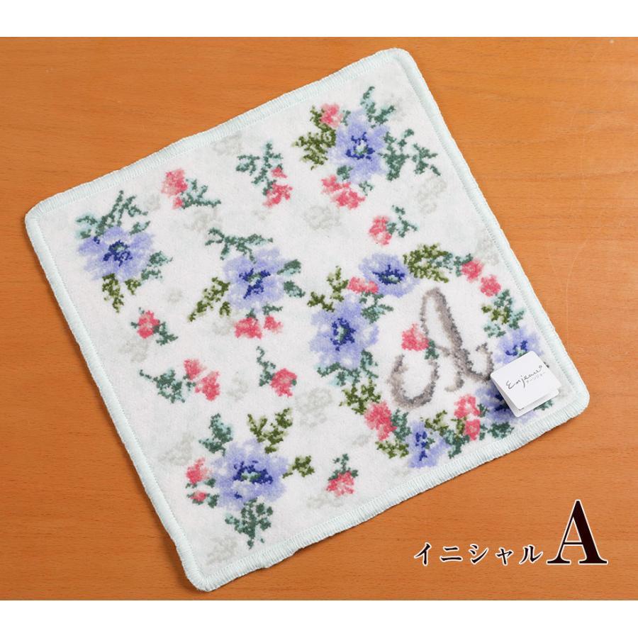 母の日 2021 ギフト プレゼント ハンカチ&ソープフラワー flower アーンジョーシリーズで人気のイニシャル 8種類から選べます hanamankai 05