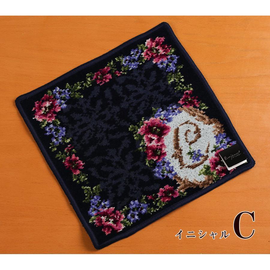 母の日 2021 ギフト プレゼント ハンカチ&ソープフラワー flower アーンジョーシリーズで人気のイニシャル 8種類から選べます hanamankai 06