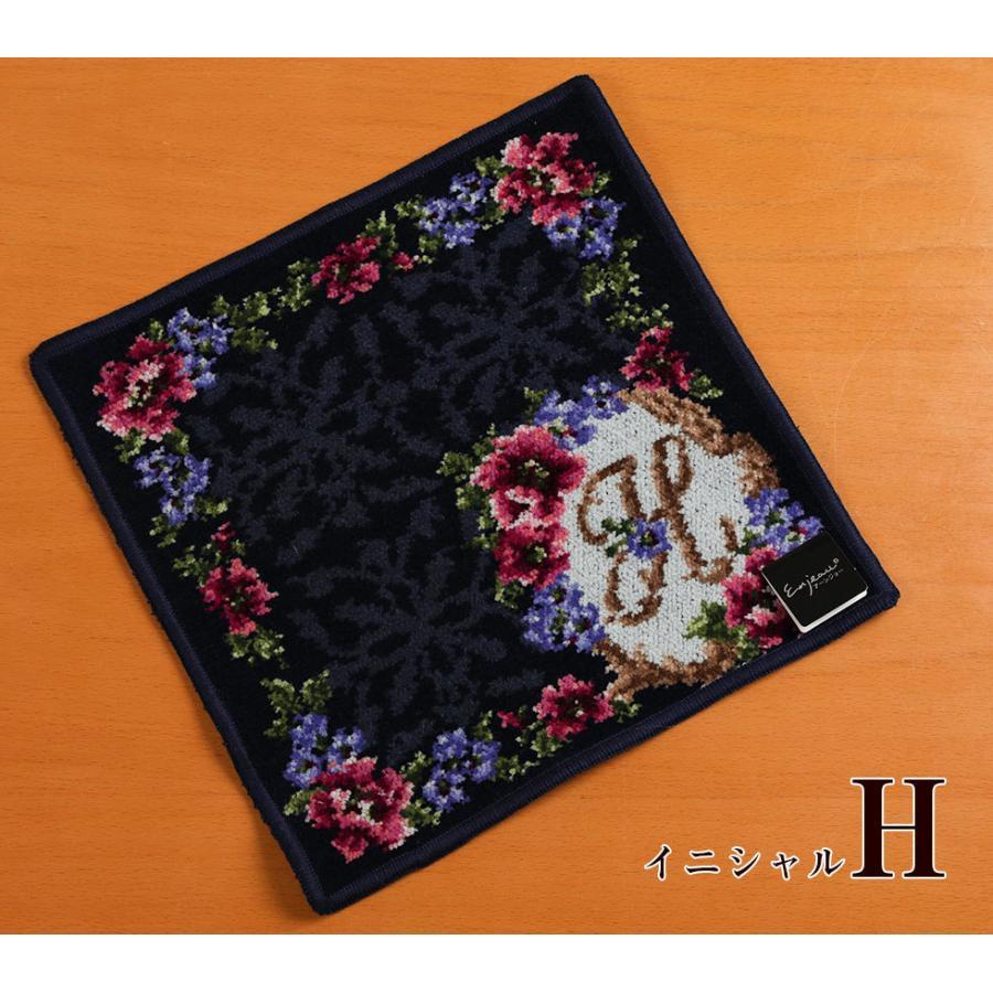 母の日 2021 ギフト プレゼント ハンカチ&ソープフラワー flower アーンジョーシリーズで人気のイニシャル 8種類から選べます hanamankai 08