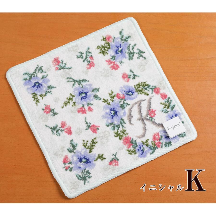 母の日 2021 ギフト プレゼント ハンカチ&ソープフラワー flower アーンジョーシリーズで人気のイニシャル 8種類から選べます hanamankai 09
