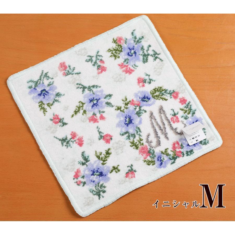 母の日 2021 ギフト プレゼント ハンカチ&ソープフラワー flower アーンジョーシリーズで人気のイニシャル 8種類から選べます hanamankai 10