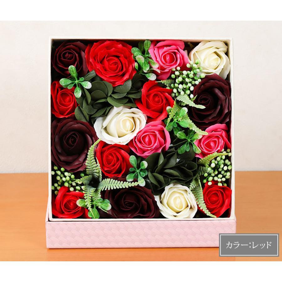 母の日  2021 ギフト プレゼント花 選べるギフト ソープフラワーボックス ラウルベアのブーケセット hanamankai 13