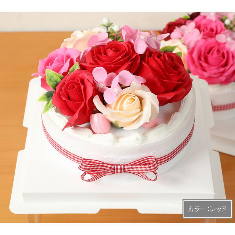 母の日  2021 ギフト プレゼント花 選べるギフト ソープフラワーボックス ラウルベアのブーケセット hanamankai 10