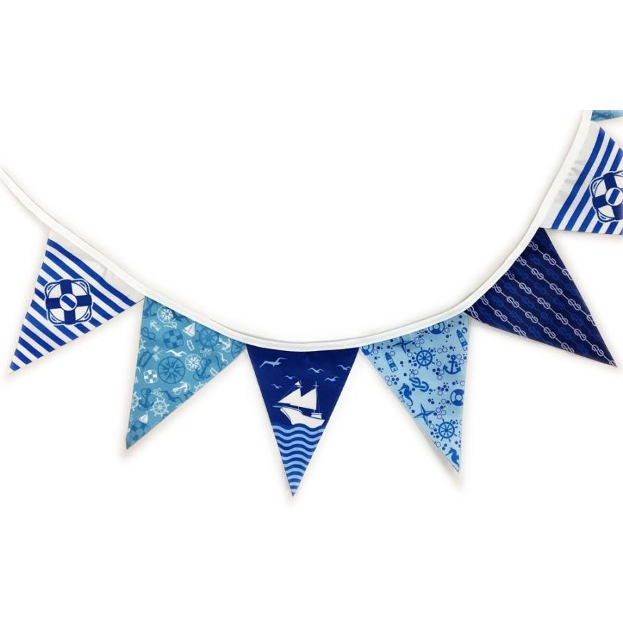 フラッグガーランド NO.5 マリン・ヨット (フラッグ90×115mm 16枚連続 全長2800mm) ミニ三角連続旗 hanamaru-store 03