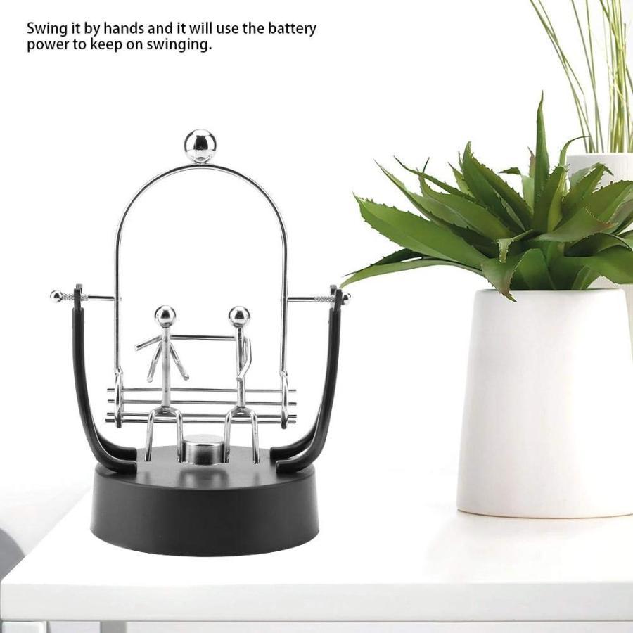 パーペチュアルモーション 科学玩具 インテリア 電子永久運動 アクセサリー キネティック コスモ キネティックアート 部屋飾り 装飾(電池は|hanamaru-store|05