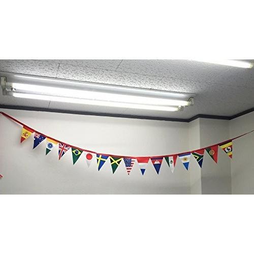 フラッグガーランド ワールドフラッグ ミニ万国旗 手書き風国旗 (16枚 全長2800mm)|hanamaru-store|05