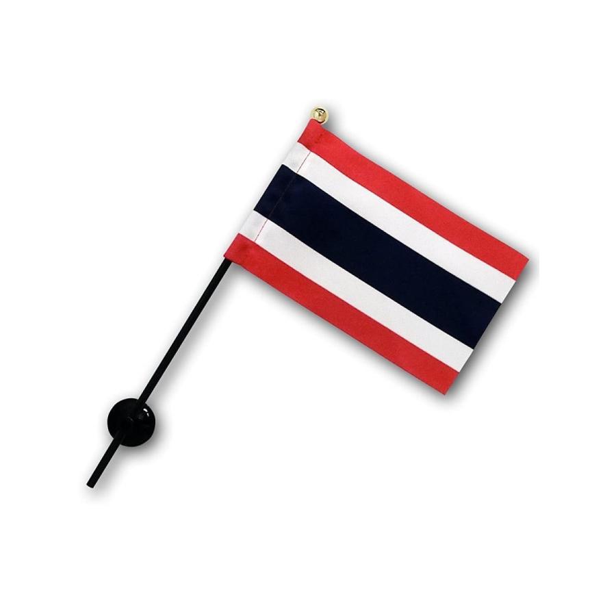 タイ 国旗 ミニフラッグ ポール 吸盤付き 高級テトロン製|hanamaru-store|06