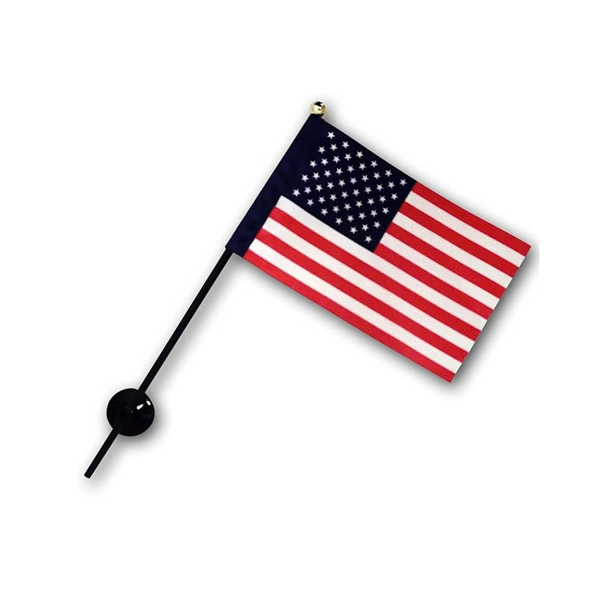 アメリカ 国旗 ミニフラッグ ポール 吸盤付き 高級テトロン製|hanamaru-store|07