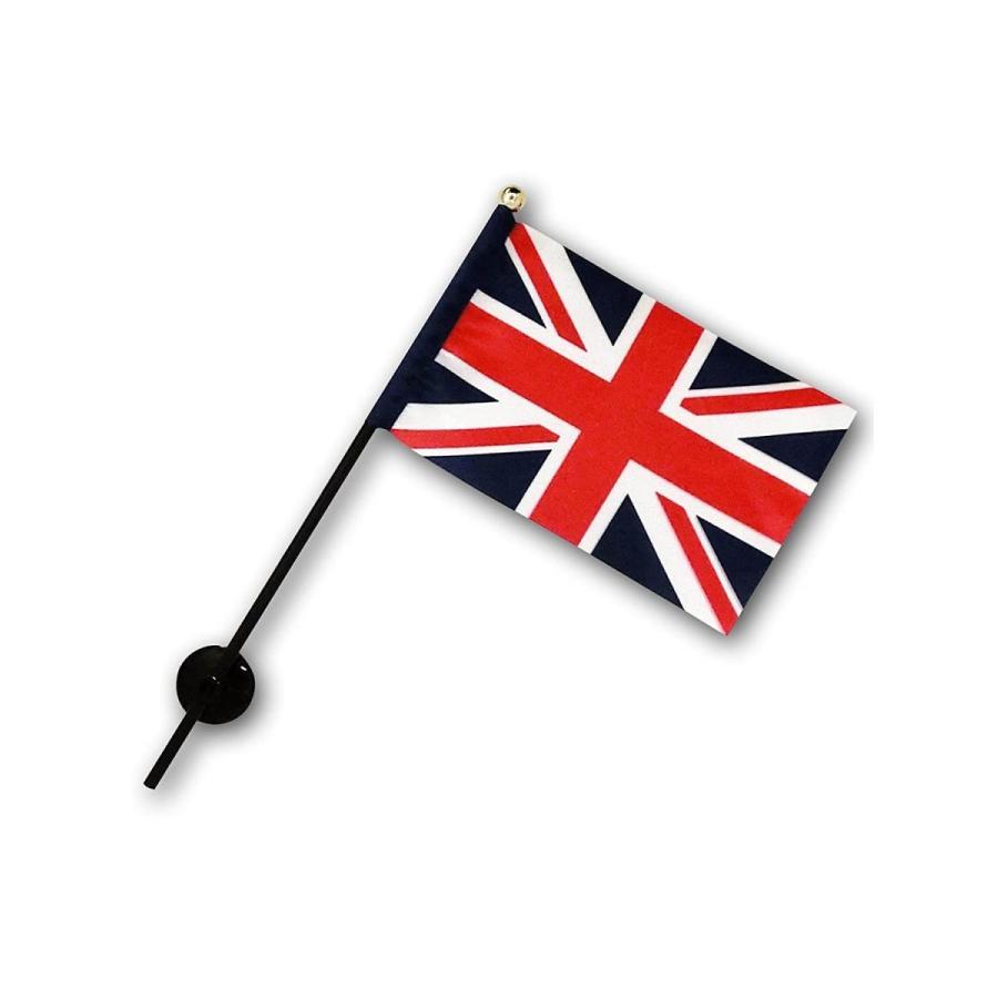イギリス 国旗 ミニフラッグ ポール 吸盤付き 高級テトロン製|hanamaru-store|03