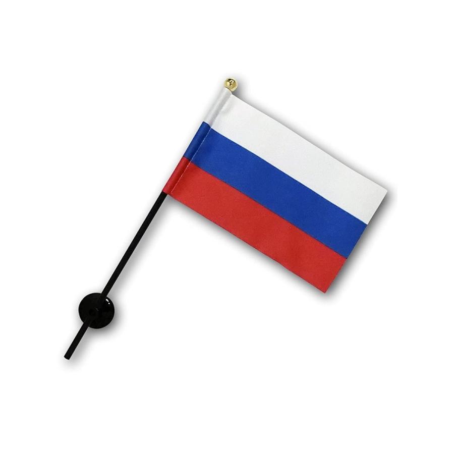 ロシア 国旗 ミニフラッグ ポール 吸盤付き 高級テトロン製 hanamaru-store 06