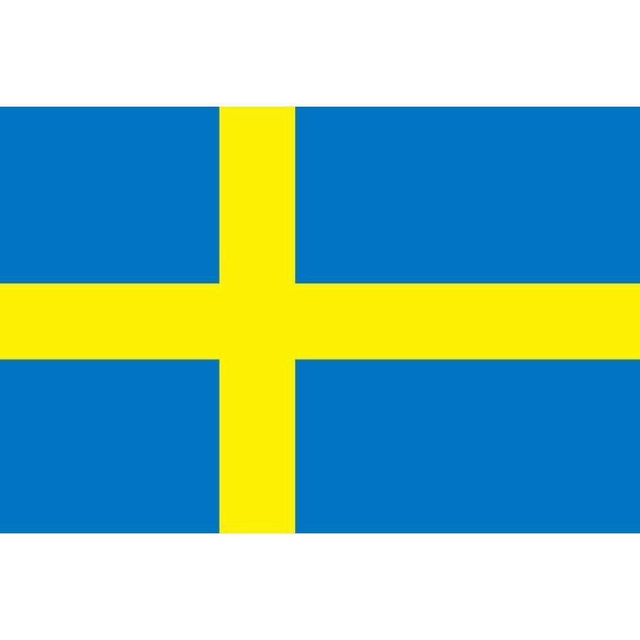 スウェーデン 国旗 ミニフラッグ ポール 吸盤付き 高級テトロン製|hanamaru-store