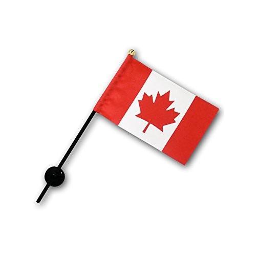 カナダ 国旗 ミニフラッグ ポール 吸盤付き 高級テトロン製|hanamaru-store|02
