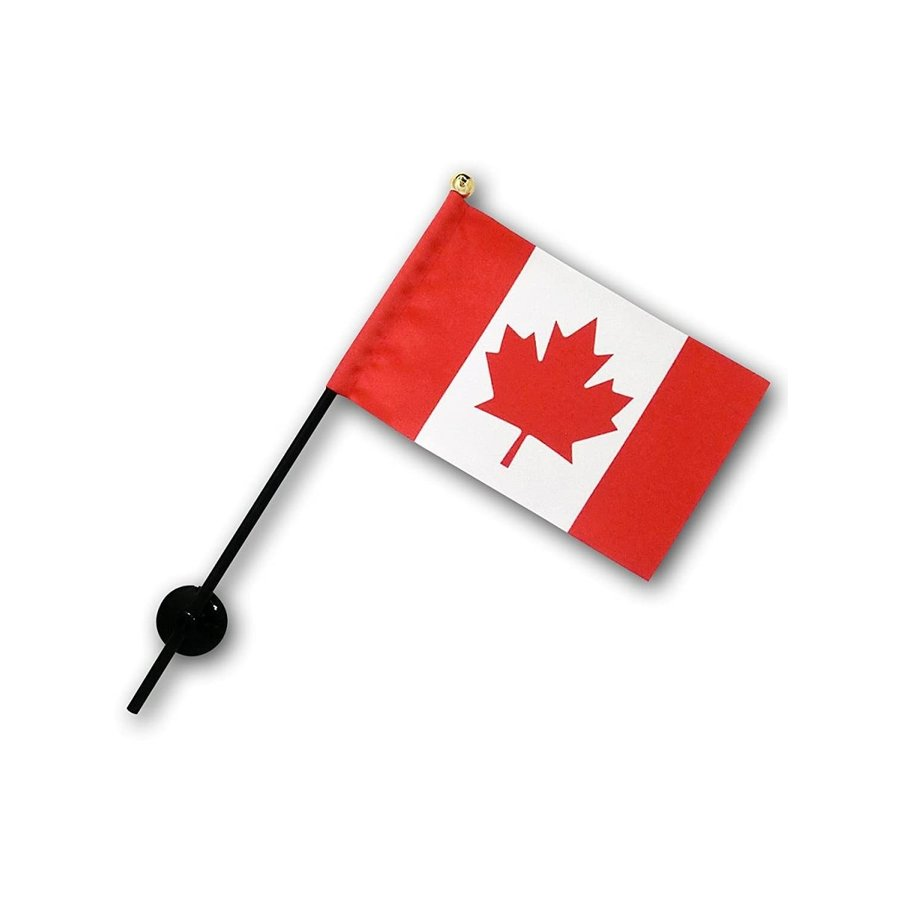 カナダ 国旗 ミニフラッグ ポール 吸盤付き 高級テトロン製|hanamaru-store|06