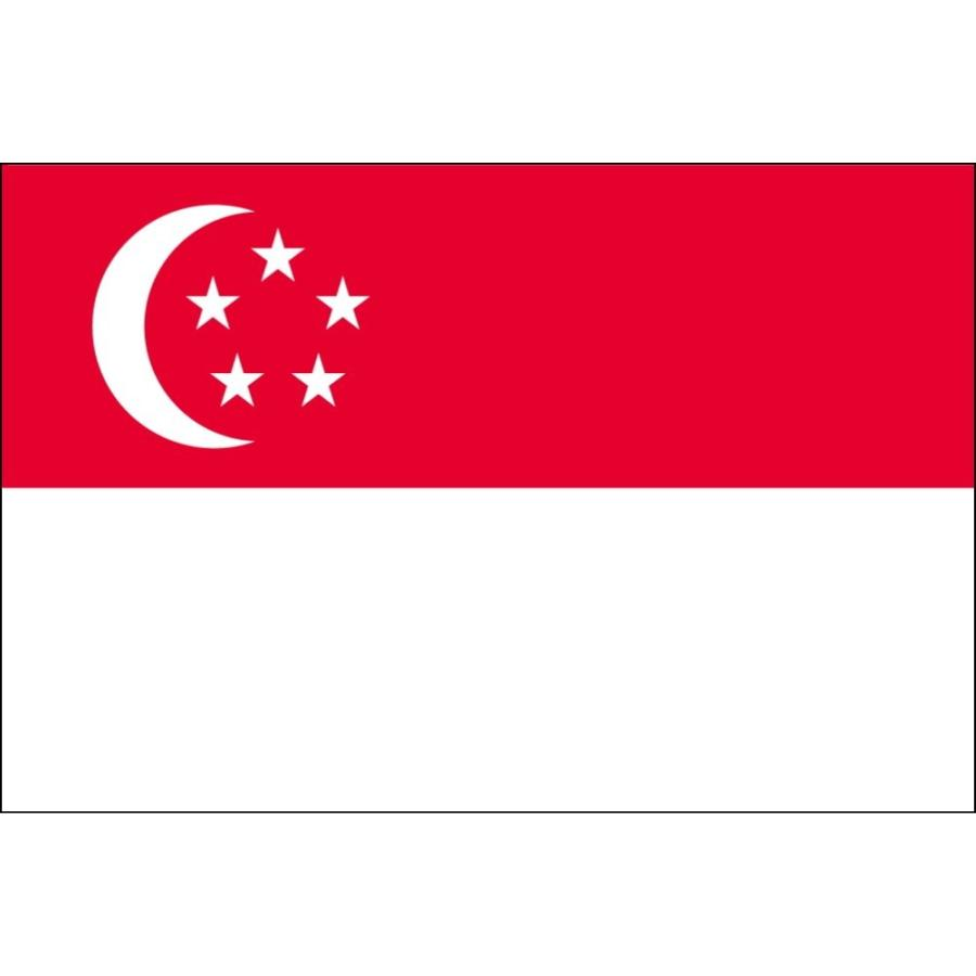 シンガポール 国旗 ミニフラッグ ポール 吸盤付き 高級テトロン製 hanamaru-store