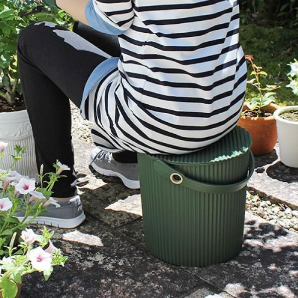 ガーデンツールバケット オムニウッティ LLサイズ 20L フタ付き 八幡化成 ゴミ箱 土作り バケツ 送料込 返品交換不可 おもちゃ箱