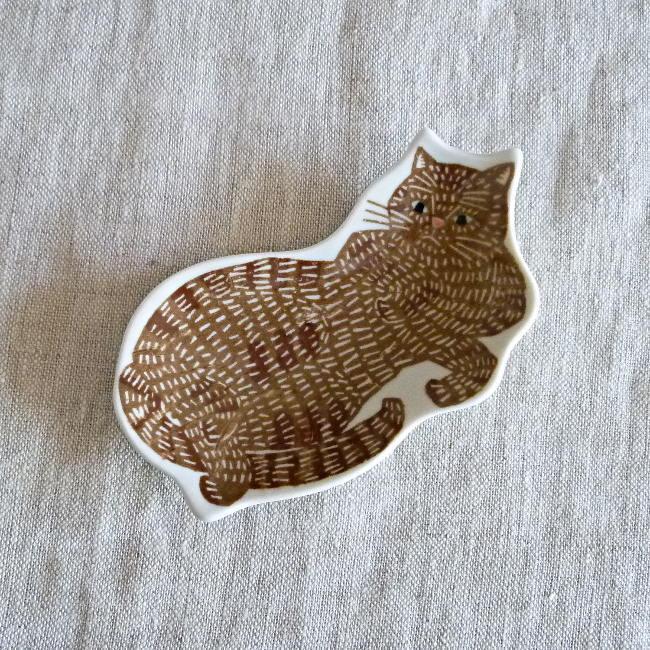倉敷意匠 印判手 豆皿 KATA KATA トラ猫 94722-14 hanamomimo-zakkaten