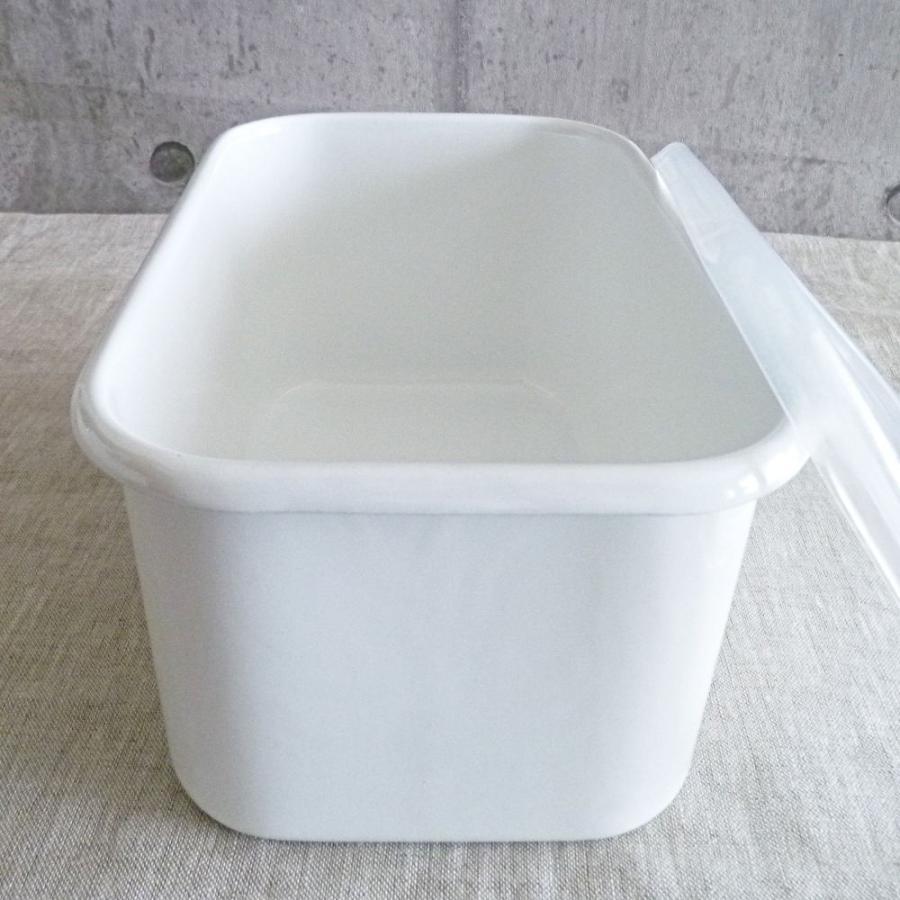 野田琺瑯 ホワイトシリーズ レクタンブル深型シール蓋付LL hanamomimo-zakkaten 02