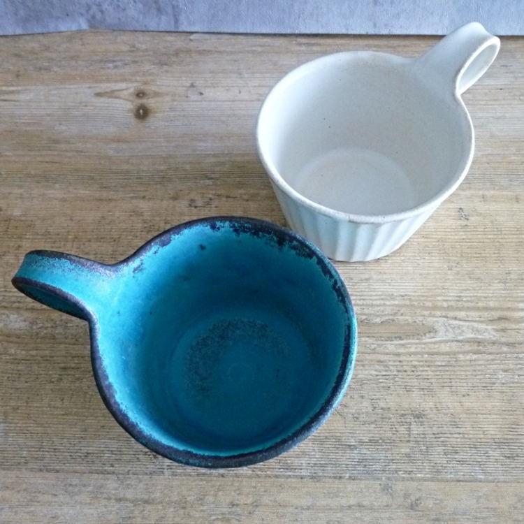 益子焼 わかさま陶芸 シャビーターコイズ モダンマグカップ|hanamomimo-zakkaten|07
