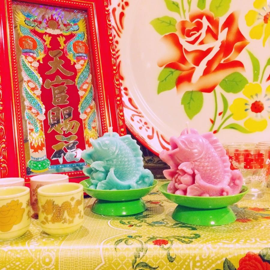 ベトナム・鯉と蓮の花キャンドル / ピンク hananoco-bazaar 09