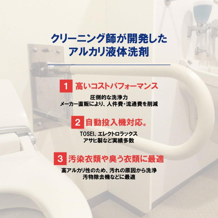 業務用 アルカリ液体洗剤20kg 病院 施設  クリーニング師が開発 送料無料|hanaten|02