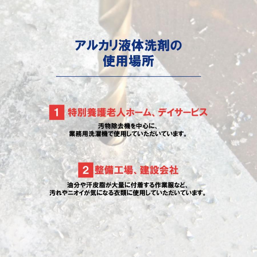 業務用 アルカリ液体洗剤20kg 病院 施設  クリーニング師が開発 送料無料|hanaten|03