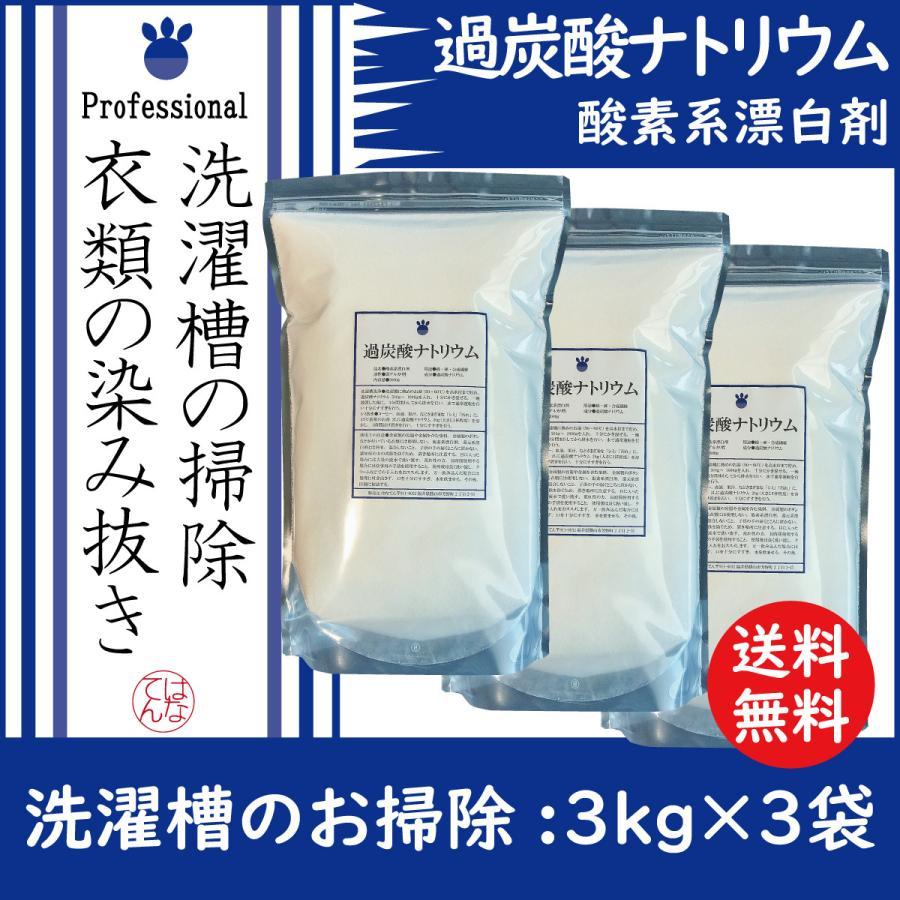 過炭酸ナトリウム 3kg×3袋 倉 酸素系漂白剤 洗濯槽 本日の目玉 送料無料 クリーナー