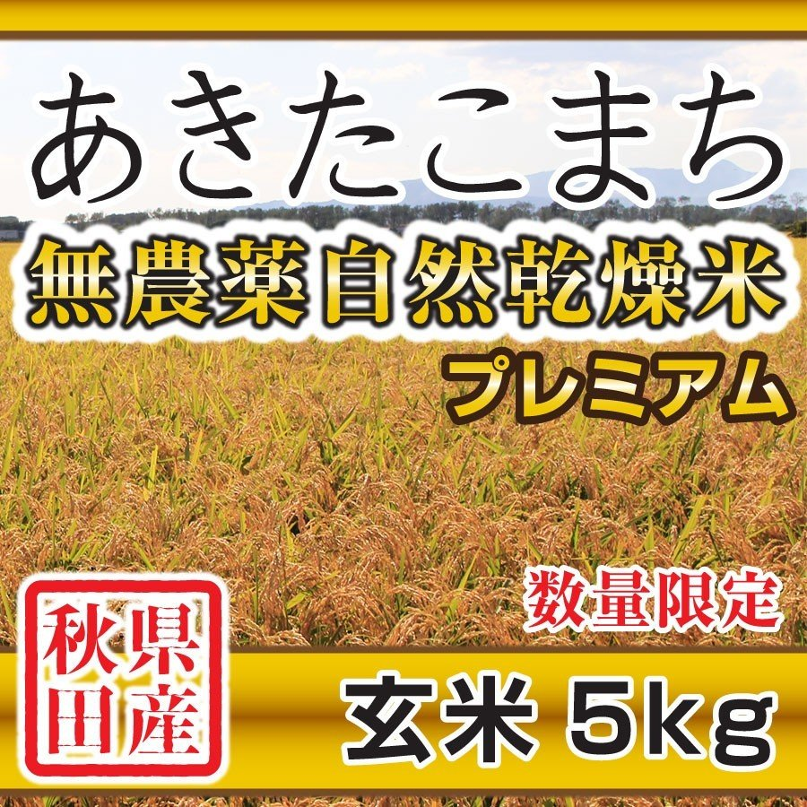 【新米予約】 玄米 令和3年産新米 秋田県産 あきたこまち 無農薬自然乾燥プレミアム 5kg 農家直送 hanatsukafarm 08