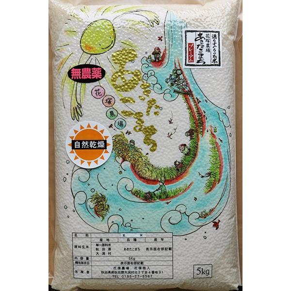 【新米予約】 玄米 令和3年産新米 秋田県産 あきたこまち 無農薬自然乾燥プレミアム 20kg 農家直送|hanatsukafarm|02