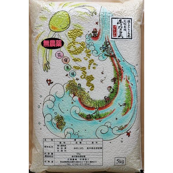 白米 令和3年産新米 秋田県産あきたこまち 無農薬栽培プレミアム 20kg 農家直送|hanatsukafarm|05