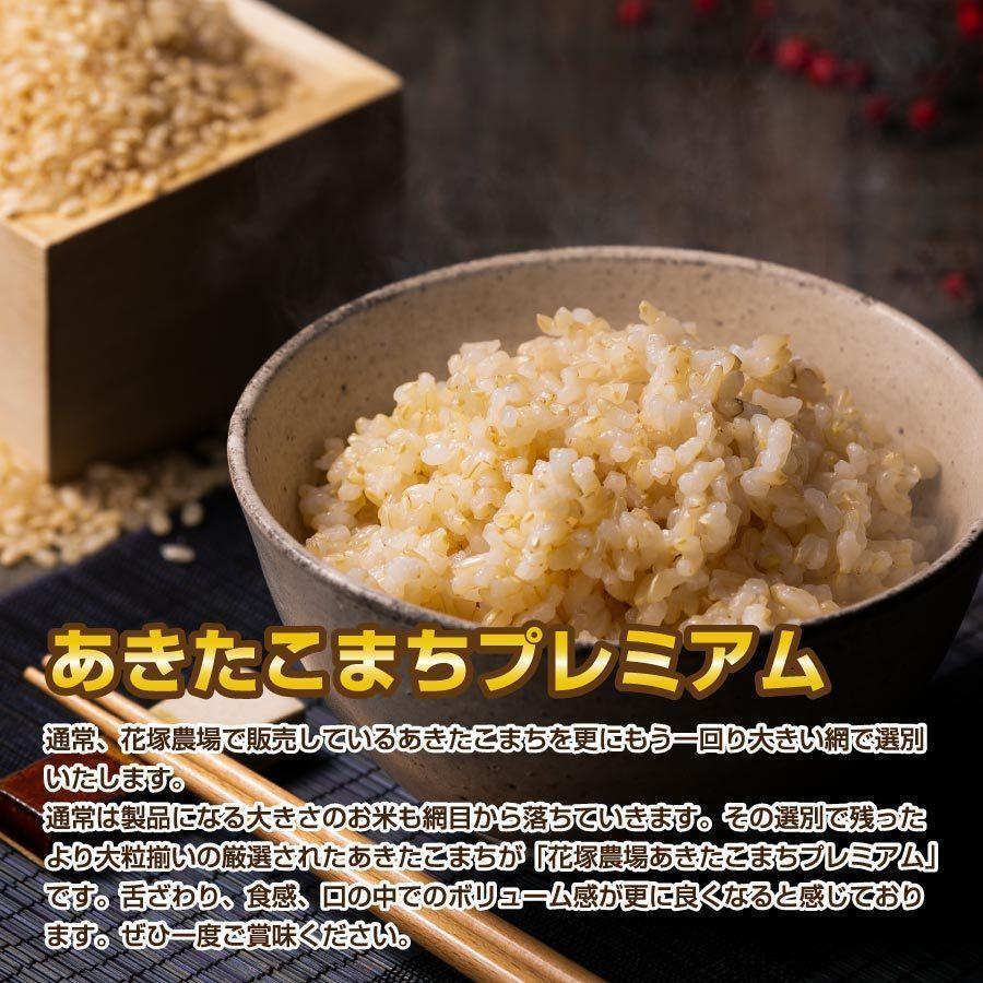 玄米 令和3年産新米 秋田県産 あきたこまち 無農薬栽培プレミアム 10kg 農家直送|hanatsukafarm|02