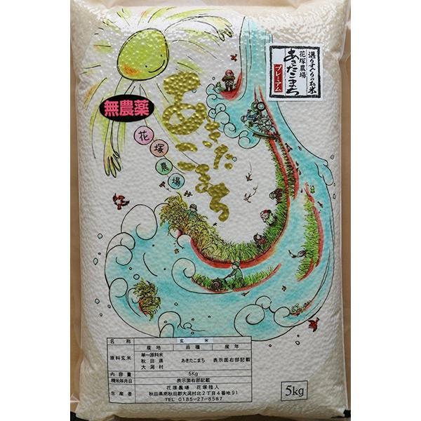 玄米 令和3年産新米 秋田県産 あきたこまち 無農薬栽培プレミアム 10kg 農家直送|hanatsukafarm|05