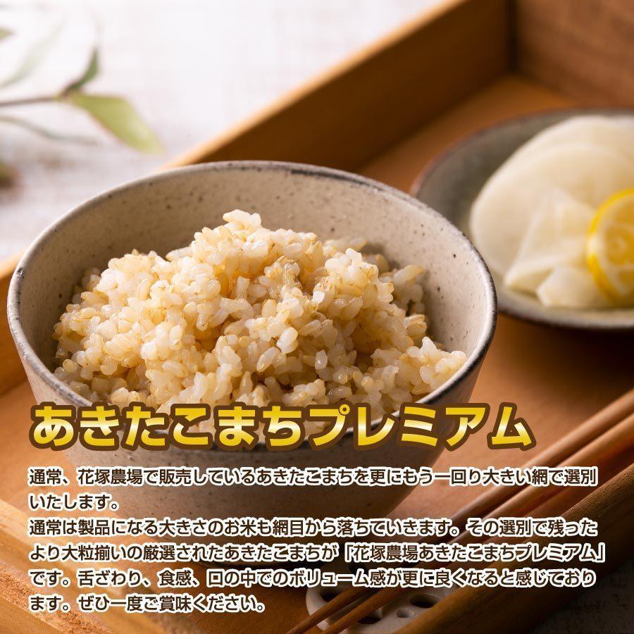 玄米 令和3年産新米 秋田県産 あきたこまち 特別栽培プレミアム 5kg 農薬8割減 化学肥料9割減 慣行栽培比 農家直送|hanatsukafarm|02