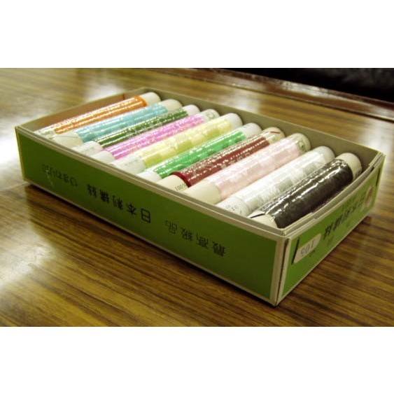 日本刺繍糸 ひまわり印 日本刺しゅう糸 新色追加 81〜100 同色20本1箱 単色 安い 激安 プチプラ 高品質