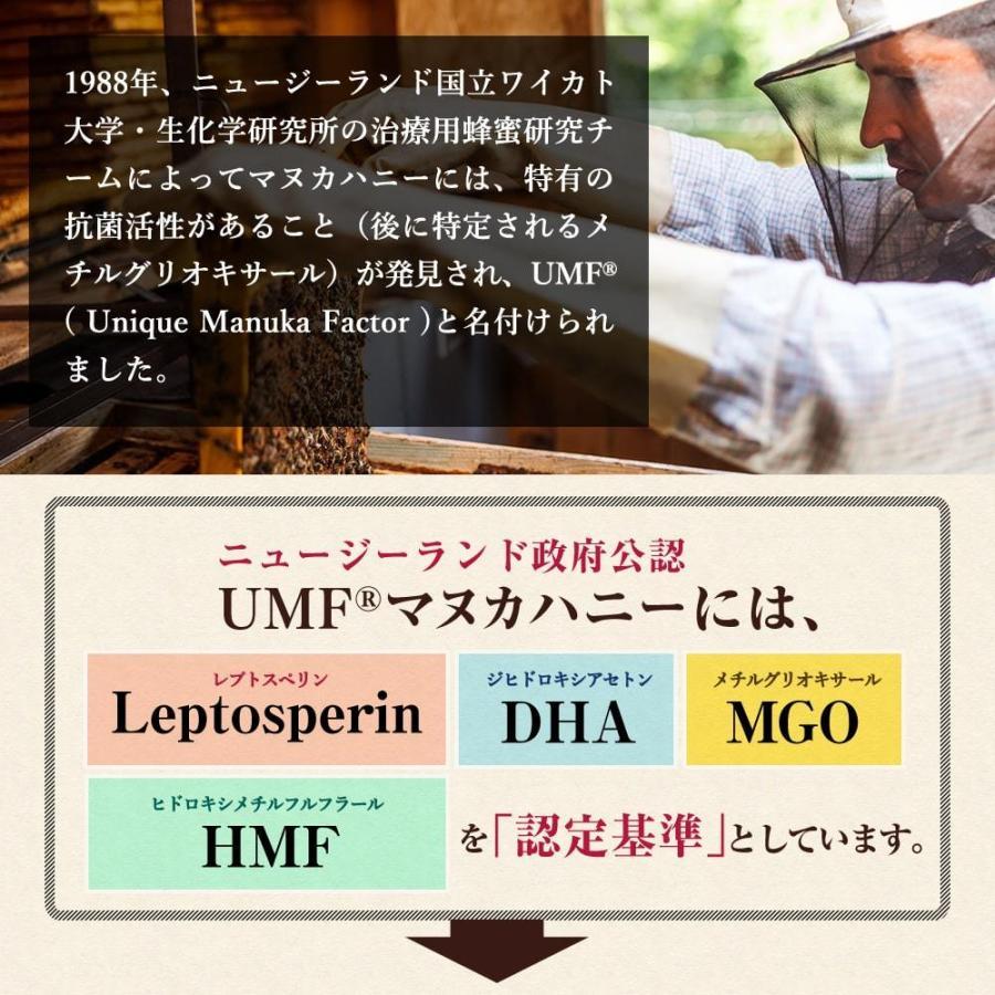 マヌカハニー UMF15+ 250g ハニーバレー マヌカハニー MGO 514〜828相当 はちみつ 蜂蜜|hands|09