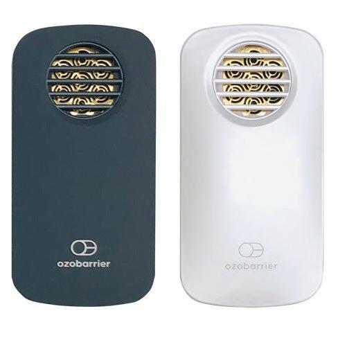 在庫あり ozobarrier オゾバリア モバイルタイプ 低濃度オゾン発生機 グレー/パール 除菌・花粉・脱臭・PM2.5 handskotera 08