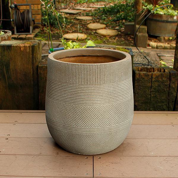 超激得SALE 植木鉢 ファイバークレイ ストラMIX 31×31 ベージュ 丸型 セール価格