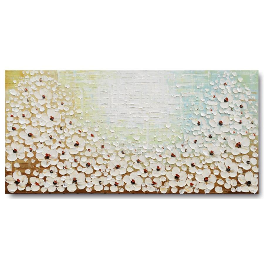 油絵 現代絵画 手書きモダン油絵 格安店 ナチュラルライン 2FAE-f2 40%OFFの激安セール 60×120cm 花E